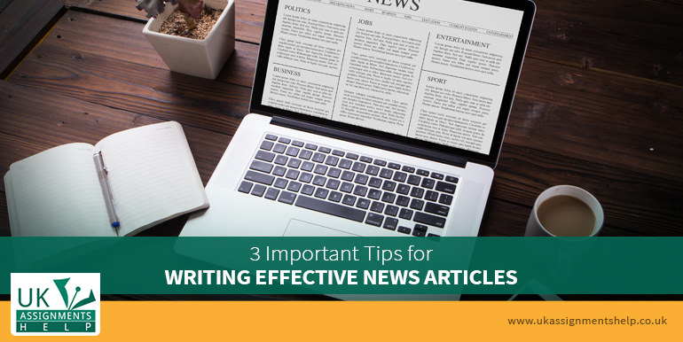 three important tips for writing effective news articles